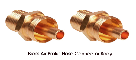 Brass Air Brake Hose Connector Body